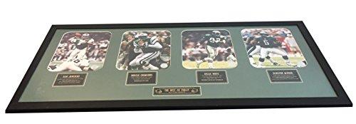 Philadelphia Eagles - All Time Greats, Ron Jaworski, Harold Carmichael, Reggie White, Donovan McNabb- 41x18 1/2 Framed and Matted Piece