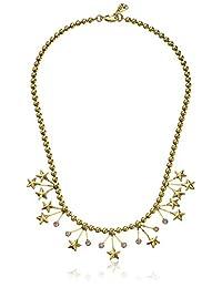 "Yochi Stars Crystal Statement Necklace, 18"""