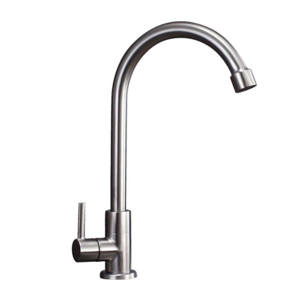 Hot and Cold Faucet Bathroom 304 Stainless Steel wash Basin Sink Splash Faucet