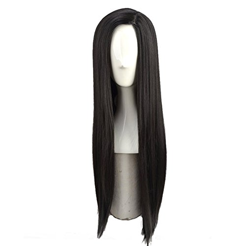 Yuehong Long Straight Cosplay Wig Anime Costume Party Wig Synthetic Wigs]()