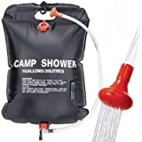 VIGLT Camping Shower Bag 5 gallons / 20L Portable Shower Bag for Outdoor Traveling Hiking Summer Shower