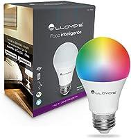 Foco Inteligente WiFi, Multicolor + Luz Blanca Cálida (LED RGBW), Compatible con iOS, Android, Alexa y Asistente de...