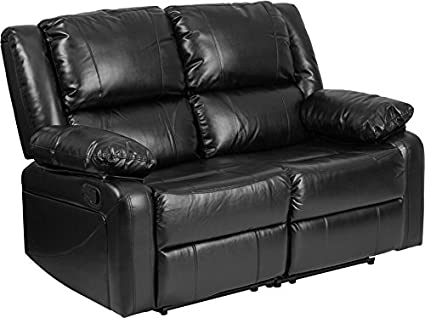 Peachy Amazon Com Concord Series Leather Loveseat With Two Built Ocoug Best Dining Table And Chair Ideas Images Ocougorg