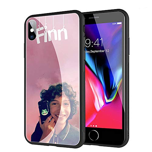 GUOZHAO Phone Case iPhone 6/6s,GZA-52 Finn Wolfhard Tempered Glass Back Black Cover and Soft Silicone Rubber Bumper Frame for Scratch-Resistant and Anti-Scratch Absorption (Finn Glass)