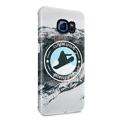 Freestyle Snowboarding Adrenaline Extreme Snow Mountain Sports Plastic Phone Snap On Back Case Cover Shell for Samsung Galaxy S6 Edge Plus+