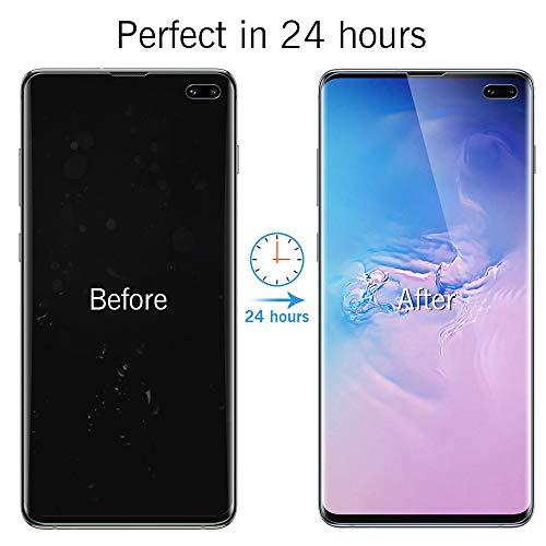96e79ecdce9b2 (3 Pack) LK Screen Protector for Samsung Galaxy S10 Plus / S10+, [Full  Coverage] [in-Display Fingerprint] HD Clear Anti-Bubble Flexible TPU Film