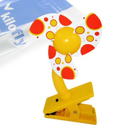 KF Baby Clip-On Mini Stroller Fan, Yellow