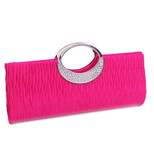 Pochette verus pour Rose Unique femme Pleated Bag Clutch Taille rIrwqgtW