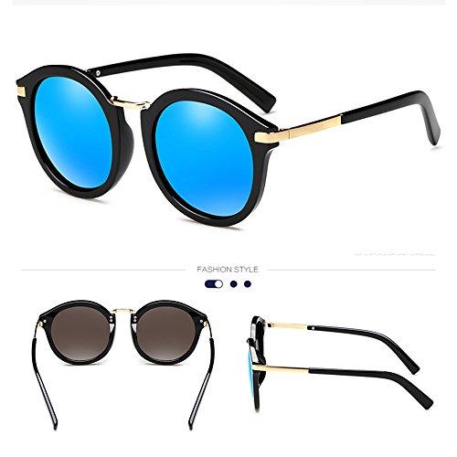 de soleil 100 hommes lunettes de de UV400 conduite de protection femmes soleil lunettes tourisme Noir polarisées ZHIRONG Lunettes rétro Couleur Bleu qaXPz
