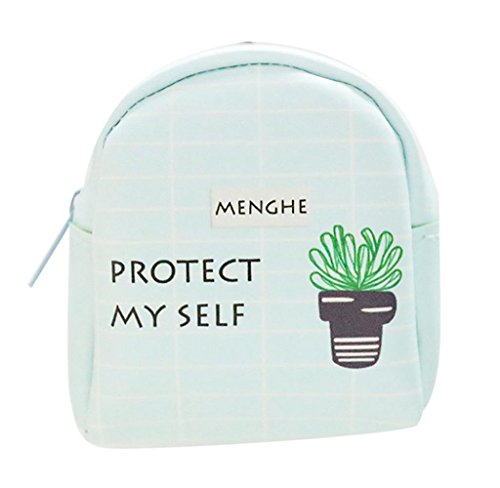 Cartera de Cuero Llavero, Holacha Mini Monodero Clutch Forma de Mochila Backpack Lindo para Mujeres Chicas E