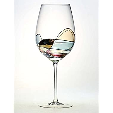 ANTONI BARCELONA Large Wine Glass - Unique Hand Painted Gifts for Women, Men, Wedding, Anniversary, Couples, Engagement - Set of 1 - Gifts Ideas for Her, Him, Birthday, Mom, Housewarming, Best Friends