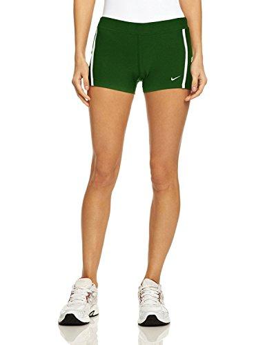 Nike Dames Looptempo Jongen Kort Donkergroen / Wit