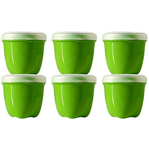Preserve Mini Round 8 Ounce Apple Green Storage Container, Set of 6
