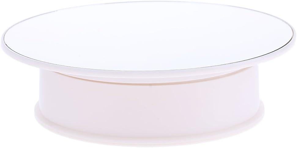 360° Elektrischer Drehteller Präsentierteller Drehbühne Schmuck Uhren Kuchen