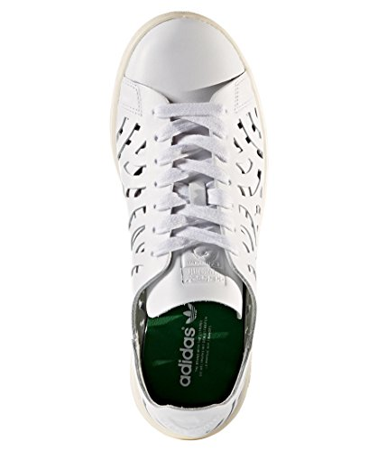 adidas Stan Smithutout, Scarpe da Ginnastica Basse Donna Blanc (Footwear White/footwear White/cream White)