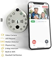 Smart Lock by Gate Labs: WiFi All-in-One Doorbell & Deadbolt | App Enabled, Built-in Camera, Two-Way Talk,