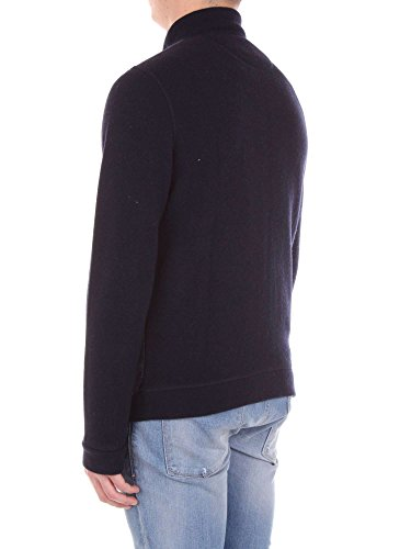 300 Blu Light Cardigan Full Zip Notte blue Grey wool lw01 Wool Cotton Wofel1093 Woolrich Ht7Eww