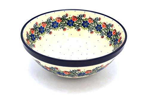 Stoneware Party Garden (Polish Pottery Bowl - Larger Nesting (9