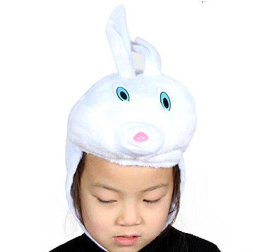 Goodscene Party decoration accessories Cute Kids Performance Accessories Cartoon Animal Hat (White Rabbit Hat) by Goodscene