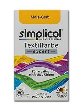 Simplicol Textilfarbe Expert für Kreatives, Einfaches Färben, Mais-Gelb 1701: Farbe für Waschmaschine Oder manuelles Färben