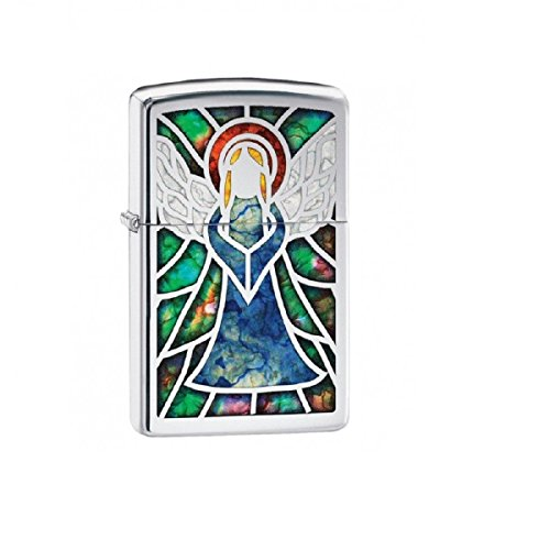 Angel Fusion Zippo Outdoor Indoor Windproof Lighter Free Custom Personalized Engraved Message Permanent Lifetime Engraving on Backside