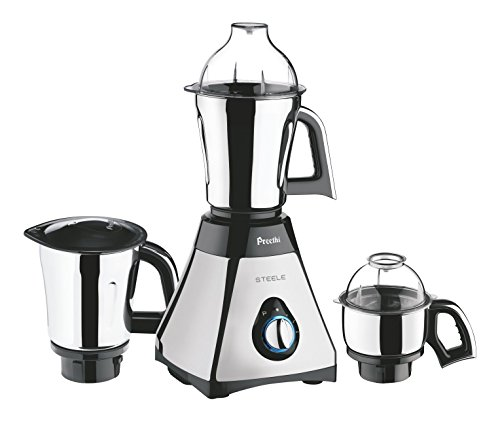 Preethi Steele Mixer Grinder with Turbo Vent and Improved Couplers Indian Kitchen Appliances
