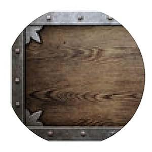 alfombrilla de ratón estructura de metal sobre fondo de madera vieja - ronda - 20cm