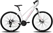 Hiland 26'' Aluminum Mountain Bike 24 Speeds with Shimano Disc Brake,16.5/18 /19.5 Fra