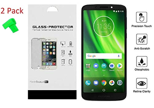 for Motorola Moto E5 XT1920DL 2 Pack Tempered Glass Screen Protector Guard + Extreme Band (Tempered Glass)