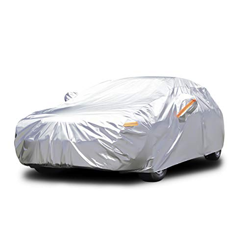 Audew All Weather Car Cover 6 Layer Breathable UV Protection Waterproof Dustproof Universal Fit Full Car Covers for Sedan, SUV L(167''-190'') ()