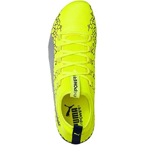 Evopower Vigor Fg Mixte Puma Enfant Jr 3 De Silver Chaussures Graphic Football 5drIIq