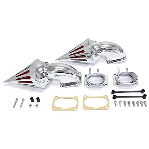 Krator Suzuki Boulevard M109 Cruiser Chrome Billet Aluminum Cone Spike Air Cleaner Kit Intake Filter Motorcycle
