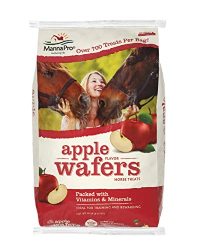 Mrs Pastures Horse Cookies - Manna Pro Apple Wafers, 20 lb