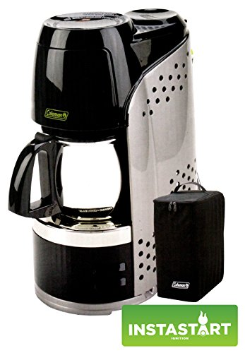 076501231755 - Coleman Quikpot Portable Coffee Maker Instastart - Stainless Steel Carafe - Propane - w/ Carrying Case carousel main 0