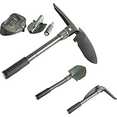 "Folding Camping Survival Shovel with Pick 16"" Garden Military Style Survival w/ Pick Tool & Case from MegaDeal"