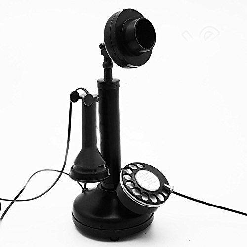 Classic Antique Replica Brass & Iron Rotary Dial Candlestick Desk top Telephone. by Decor Art International