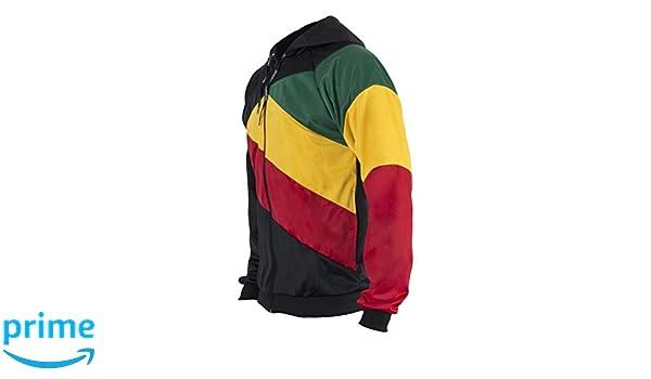 JL Sport Reggae Jamaica Flag Sudadera con Cremallera Negro Jersey ...