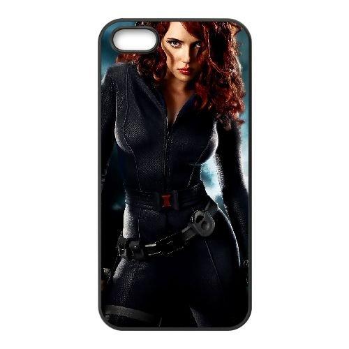 Black Widow 003 coque iPhone 5 5S cellulaire cas coque de téléphone cas téléphone cellulaire noir couvercle EOKXLLNCD22248