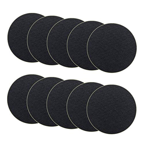 10-Pack Charcoal Filter for Kitchen Compost Bin Filters Replacement Compost Pail Bucket Refill 7.25 inch, Round ()