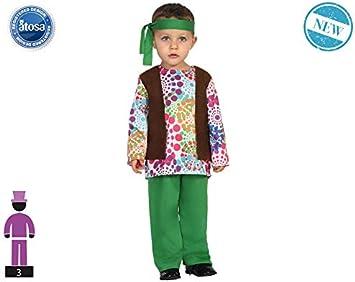 Atosa-61284 Atosa-61284-Disfraz Hippie-Bebé + 24 Meses-NIño-Verde ...