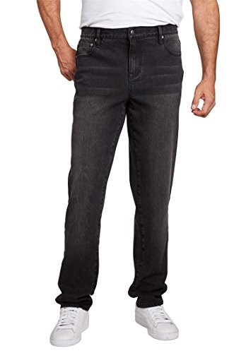 Liberty Blues Men's Big & Tall Relaxed Fit 5-Pocket Stretch Jeans, New Black