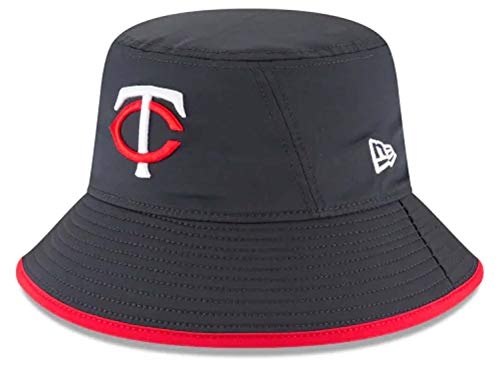 New Era Authentic MLB 2019 Clubhouse Collection Bucket Hat Stretch Fit : One Size Fit Most (Minnesota Twins) ()