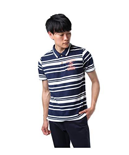 ロサーセン ゴルフウェア ポロシャツ 半袖 ボーダーパイルポロ 044-27340 98ネイビー 50(L)