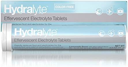 Hydralyte Effervescent Electrolyte Hydration Tablets, Lemonade, 20 Count