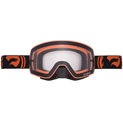 Dragon Alliance Unisex-Adult Nfxs Goggle Black Orange/Clear Lens One Size