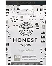 The Honest Company Designer Baby Wipes | Rose Blossom | Over 99 Percent Water | Pure & Gentle | Plant-Based | Fragrance Free | Extra Thick & Durable Wet Wipes