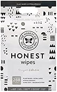 The Honest Company Designer Baby Wipes | Rose Blossom | Over 99 Percent Water | Pure & Gentle | Plant-Base