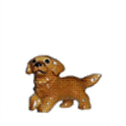 GOLDEN RETRIEVER Puppy Dog raises PAW MINIATURE Figurine ...