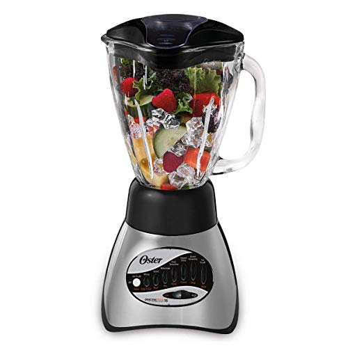 Oster 6812-001 Core 16-Speed Blender with Glass Jar, Black (Super Shred Cone)
