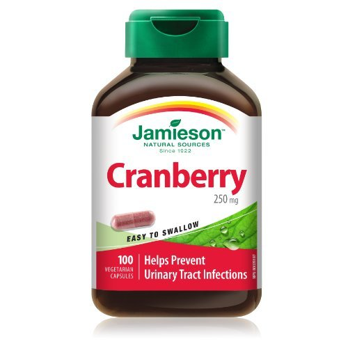 - Jamieson Cranberry 250 mg , 100 Vegetarian Capsules - Help Prevent Urinary Tract Infections by Jamieson